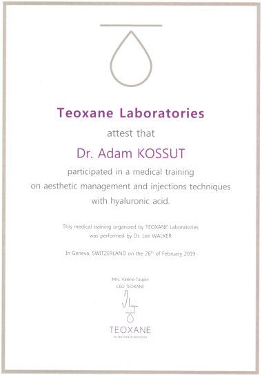 Adam - TEOXANE medical training on aesthetic management injections techniques with hyaluronic acid